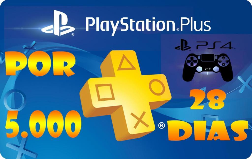 Play Station Plus Solo para Ps Por 28 Dias
