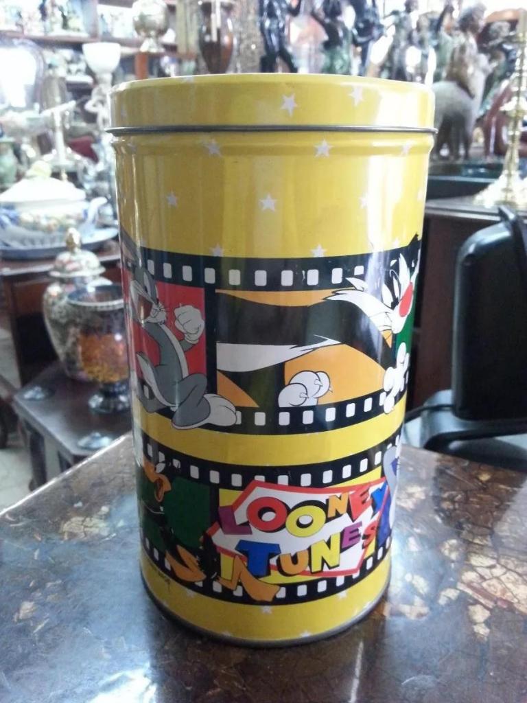 Tarro Metalico Looney Tunes De Colección  Warner Bros
