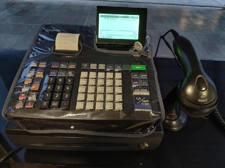 Caja Registradora CASIO PCRT500, Lector Honeywell, Funda,