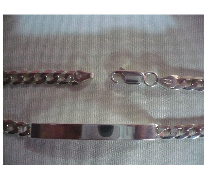Pulsera y cadena en plata italiana 9,25
