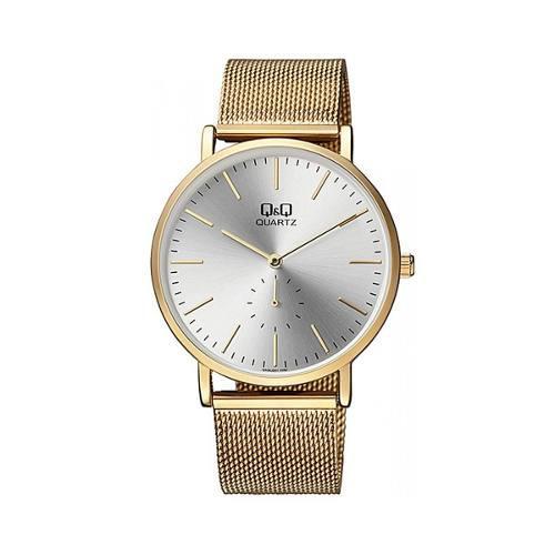 Reloj Q&q Qa96j001y Dorado Hombre Envio Gratis