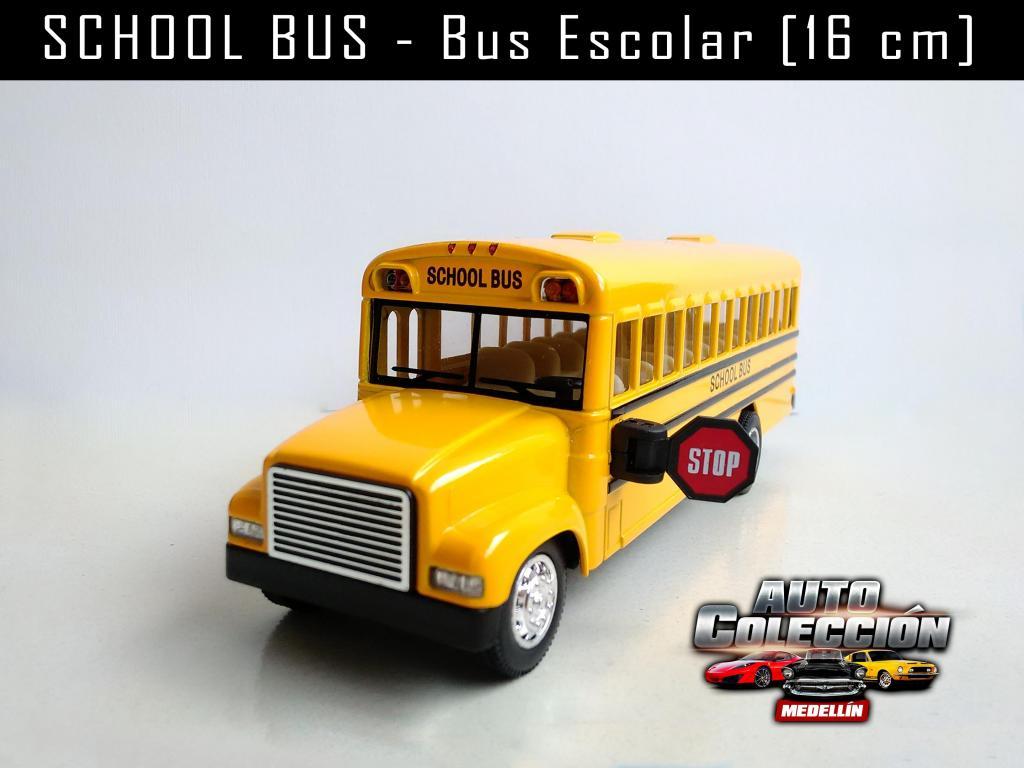 Auto de Colección School Bus Marca Kinsfun 16 cm
