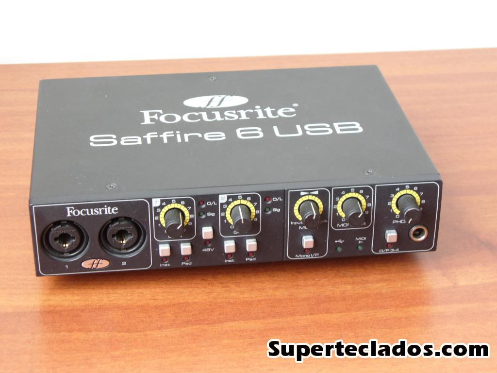 Focusrite Saffire 6 USB interface de audio 6 salidas
