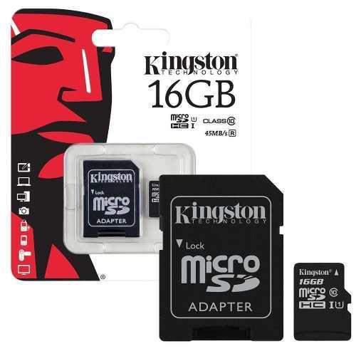 Memoria Micro Sd 16gb Clase 10 Kingston 80mb/seg Original