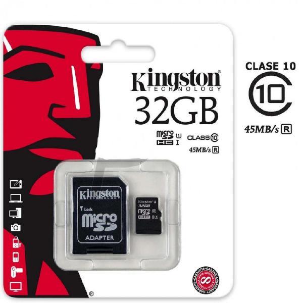 Memoria Micro Sd 32 Gb Clase 10 Sandisk Ultra 80 Mbs Nuevo