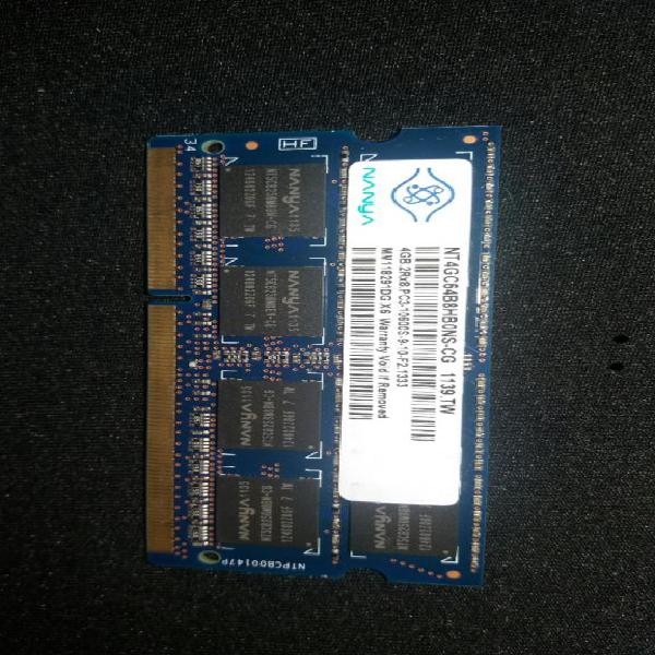 Memoria Ram Ddr3 4GB Portátil 10600 Pc3