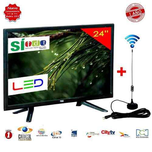 Televisor Led Full Hd 24 Pulgadas Monitor + Antena Tdt + Obs