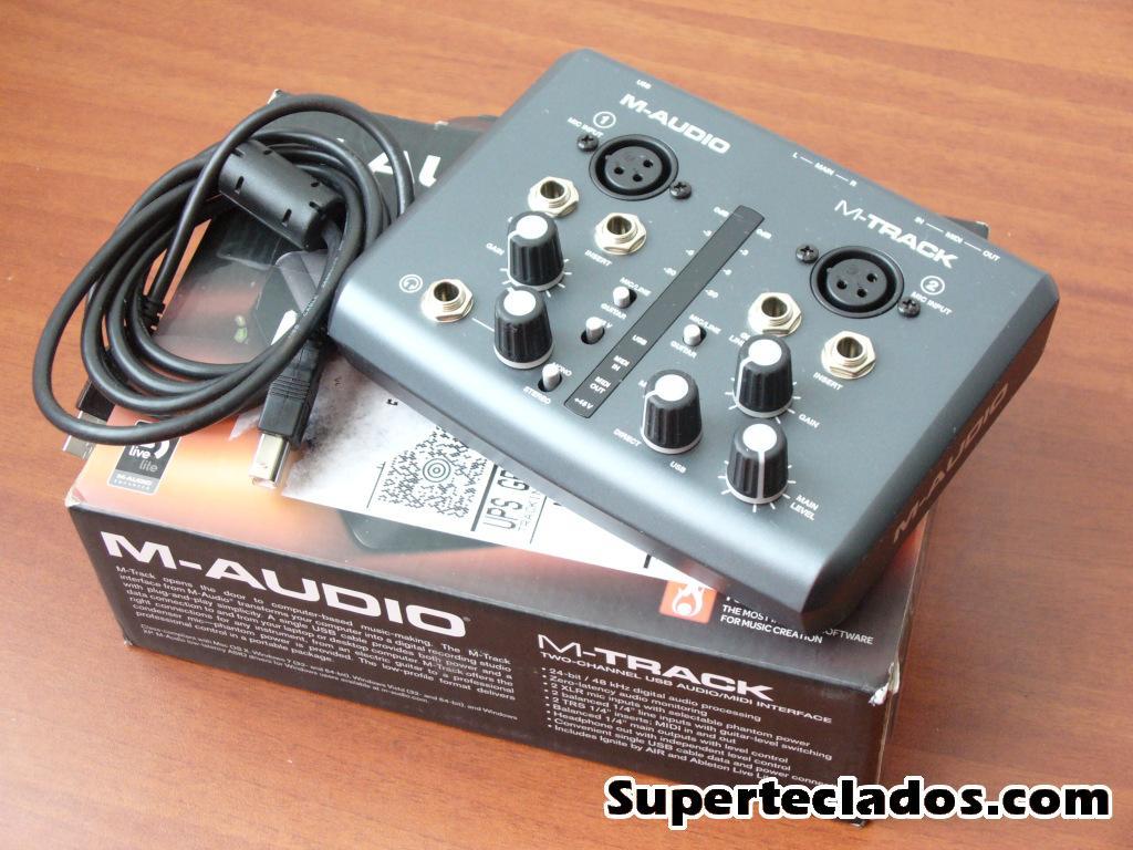 interface de audio USB MAudio MTrack SUPERTECLADOS