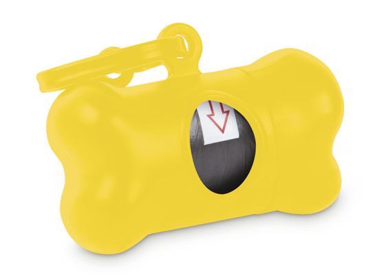 Dispensador de bolsas en forma de hueso para las heces