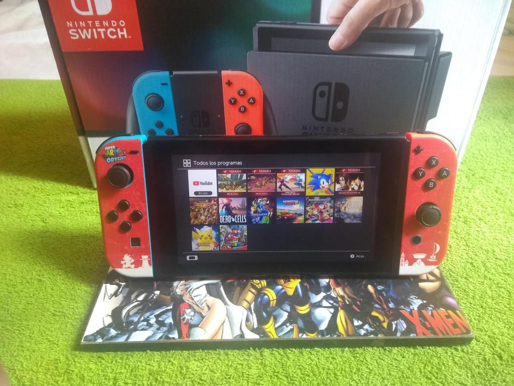 nintendo switch programada con sd 16g juegos grabados
