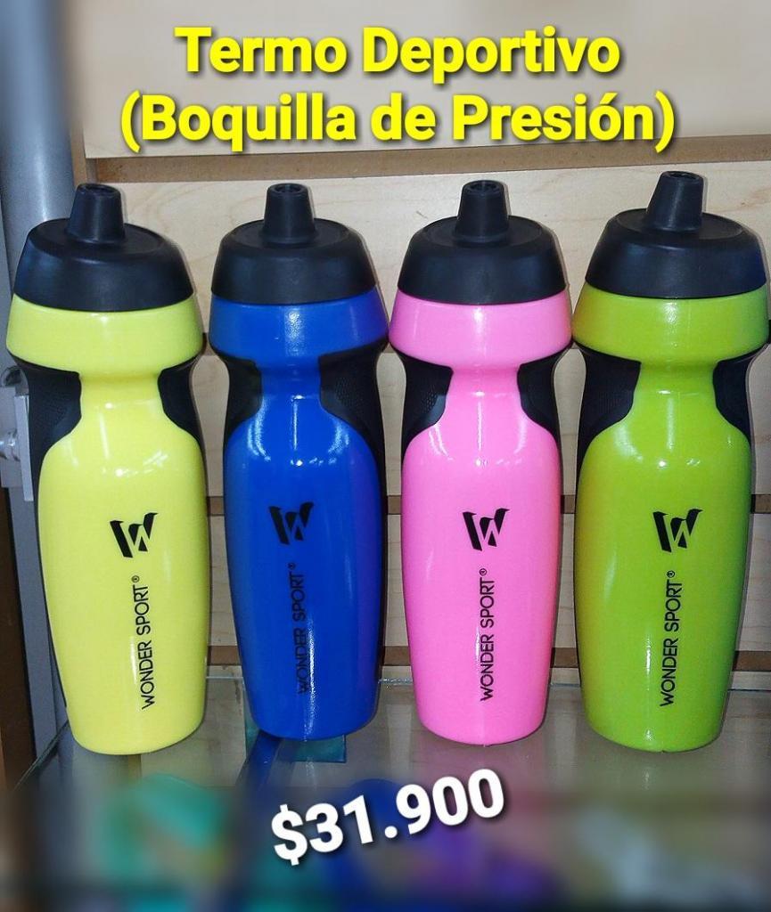TERMO DEPORTIVO CON BOQUILLA DE PRESIÓN 600ML