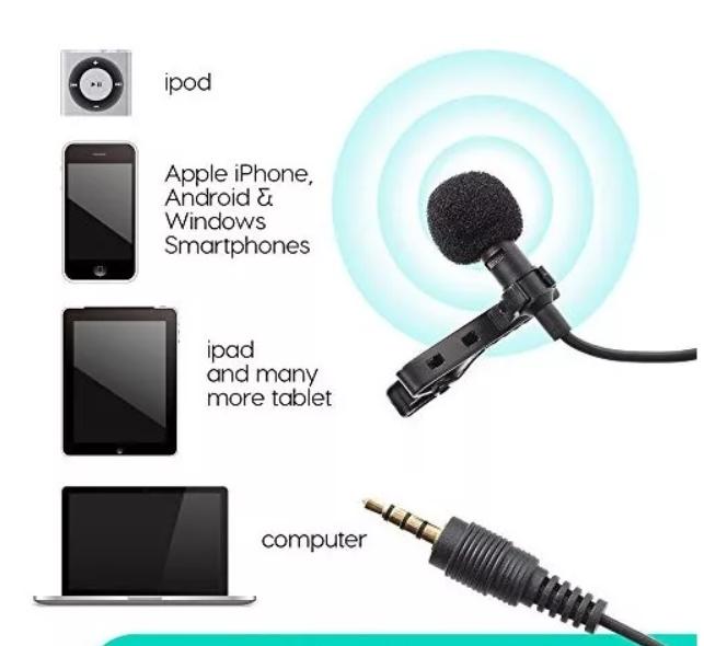 Micrófono De Solapa Para Celular de Condensador