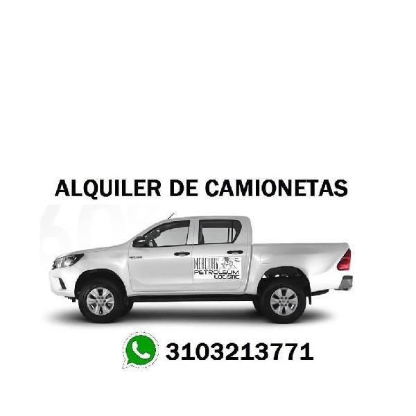 ALQUILER DE CAMIONETAS EN BARRANCA DE UPIA