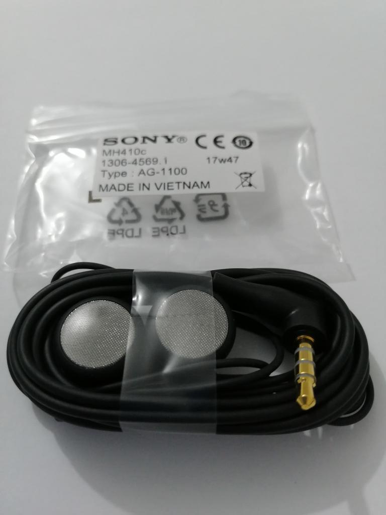 Manos libres negro MH410c / Sony Xperia L1 / original nuevo