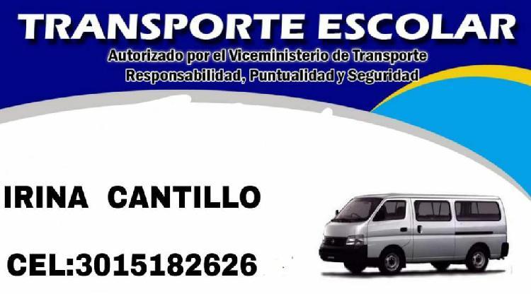 Servicio Transporte Escolar Zona Norte