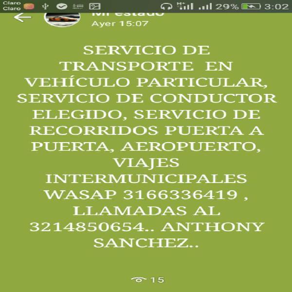 Servicio de Transporte Particular