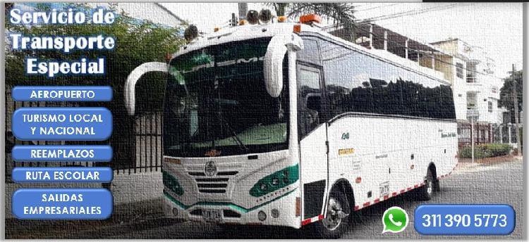 Servicio de transporte especial.