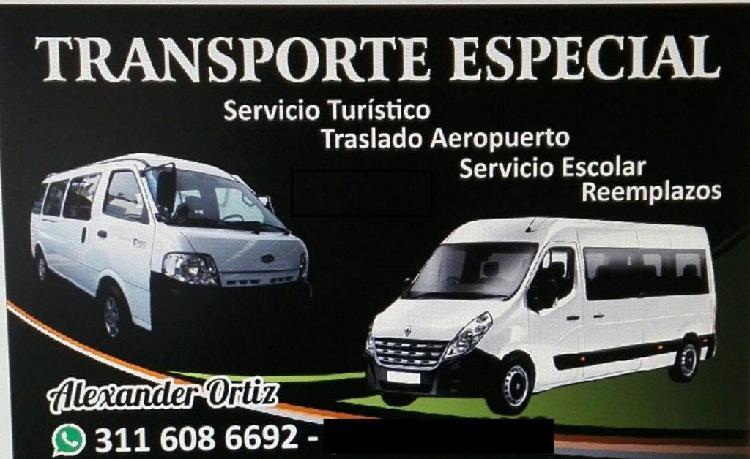 transporte especial buseta escolare y turismo