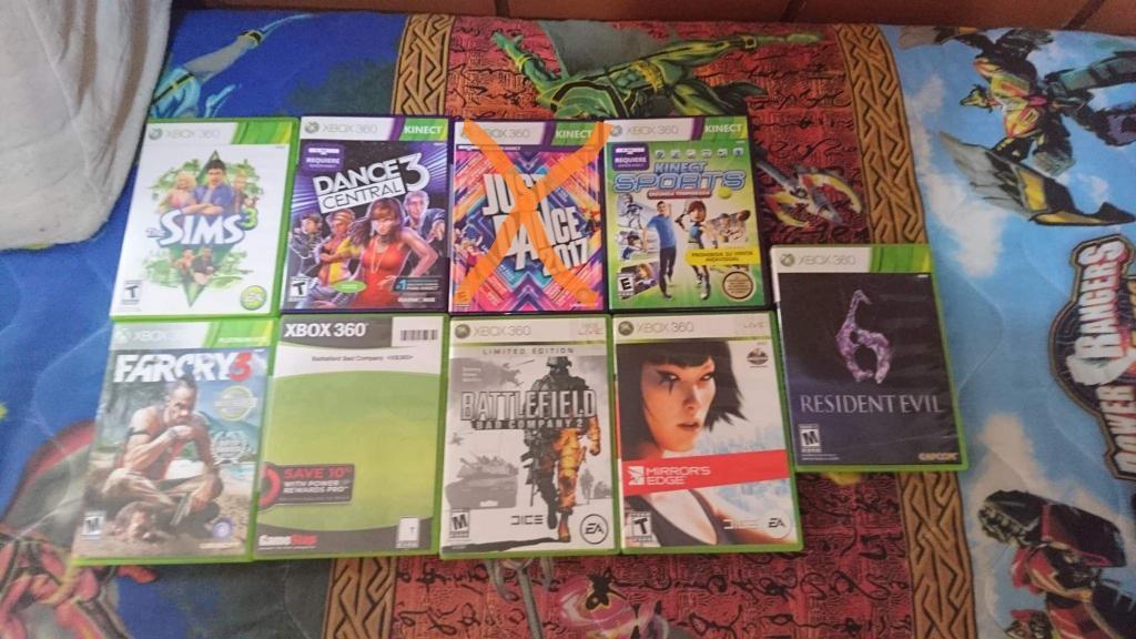 Peliculas Originales de Xbox 360 solo las que se ven