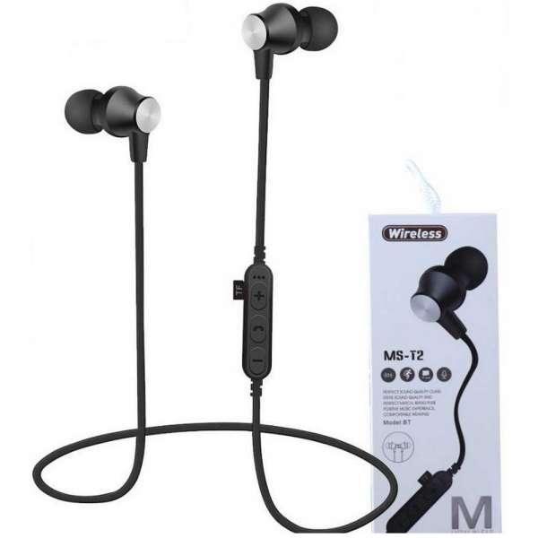 Audifónos Manos Libres Bluetooth Mst2 Negrolector Micro Sd