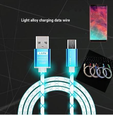 Cable Usb Carga Rápida con Iluminación