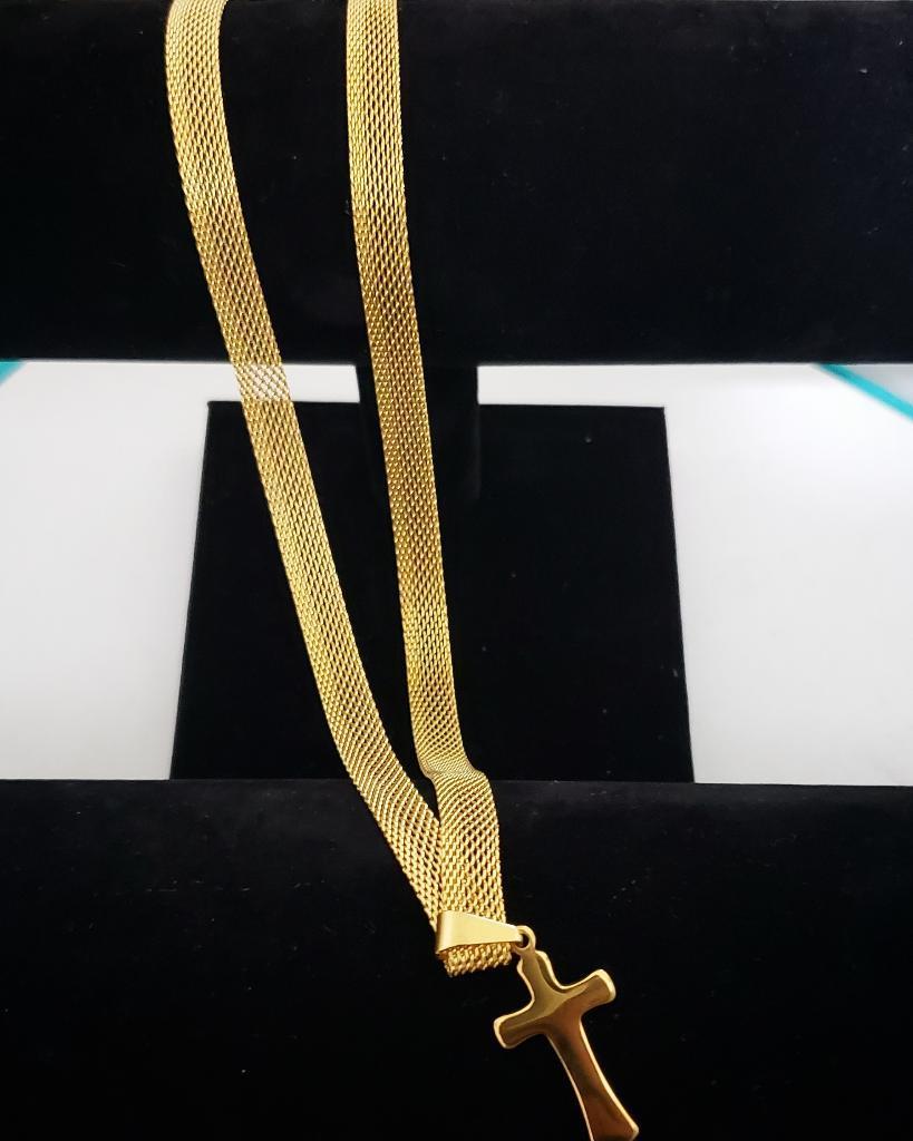 Cadena Unisex en Acero con Baño en Oro