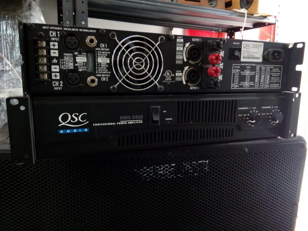 Amplificador QSC RMX W RMS X 4 y mucho más..