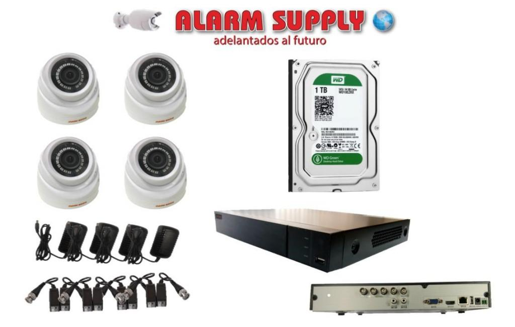 CCTV KIT DE 4 CAMARAS, DVR FULL HD P, DISCO DURO 1 TERA