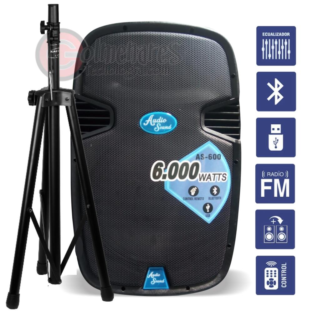 Cabina Activa Audio Sound As600 Bluetooth 15 Base