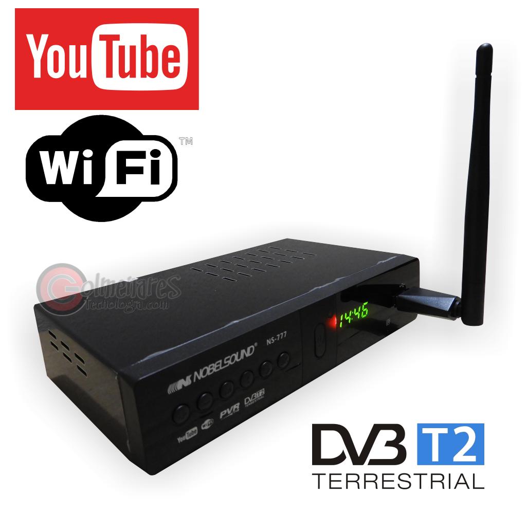 Decodificador Tdt Dvb202 Con Internet Wifi Youtube Full Hd