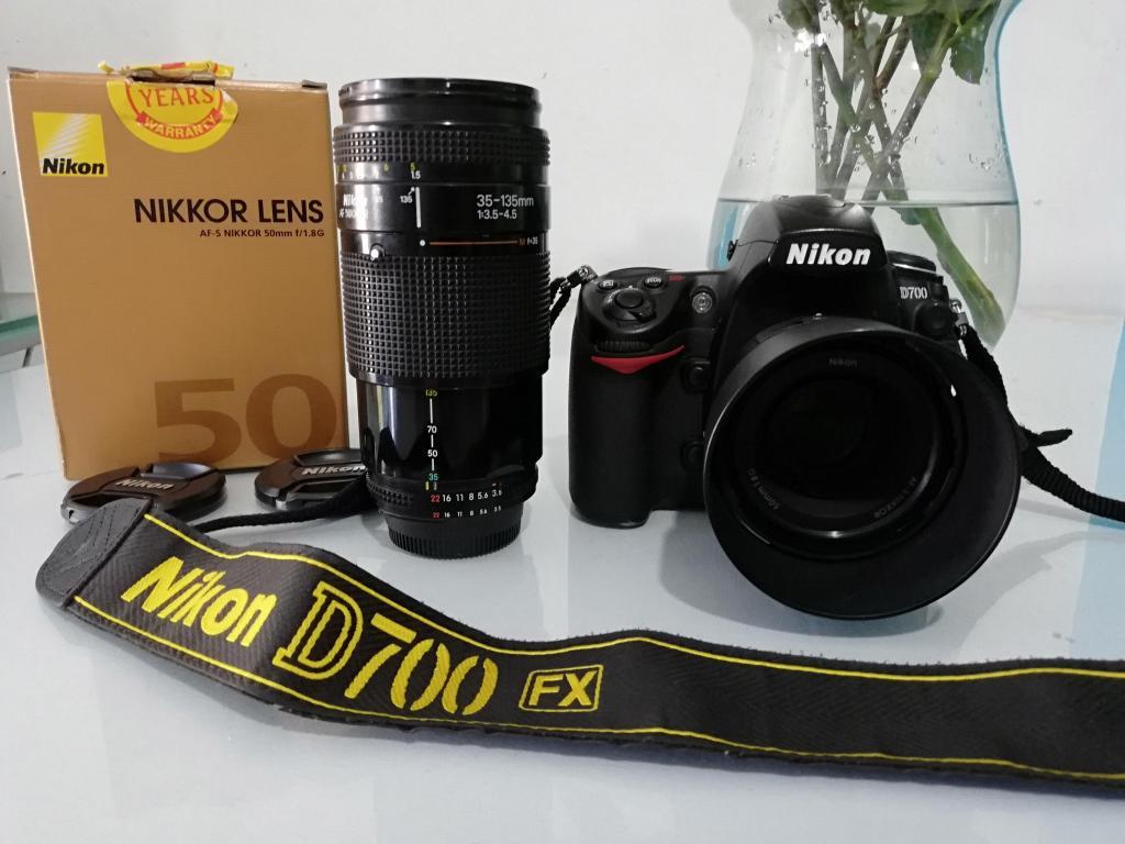 NikonD700 full frame con dos lentes