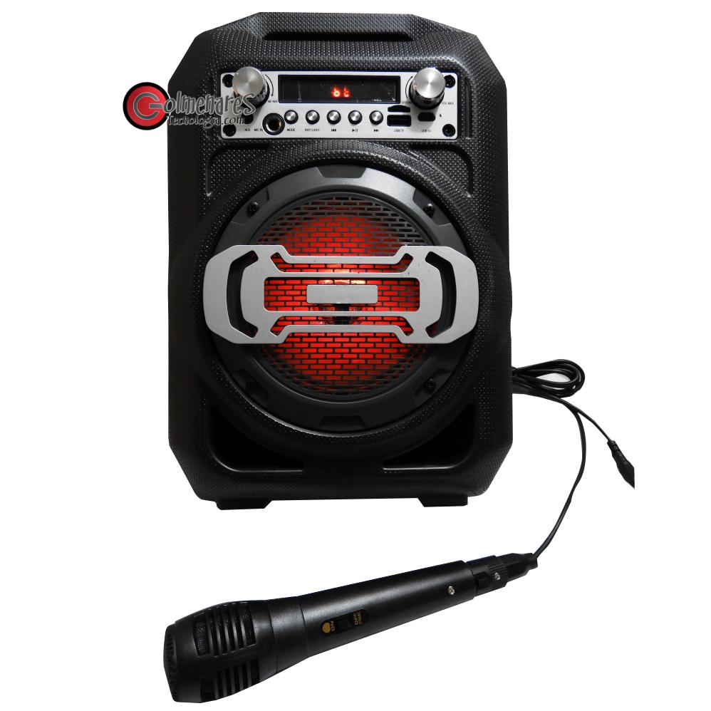 Parlante Portatil Recargable Microfono Bluetooth /fm/usb/sd