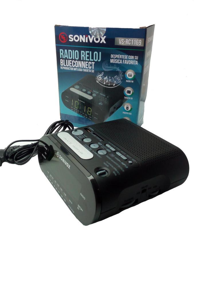 Radio Reloj Despertador Am Y Fm Con Bluetooth y Memoria USB