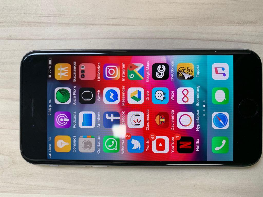 Iphone 6 32gb como nuevo Huella Cargador Original en caja