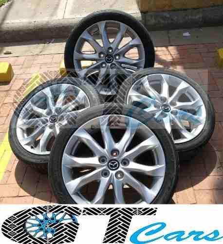 Juego De Rines Y Llantas Completo Mazda 3 Grand Touring 18