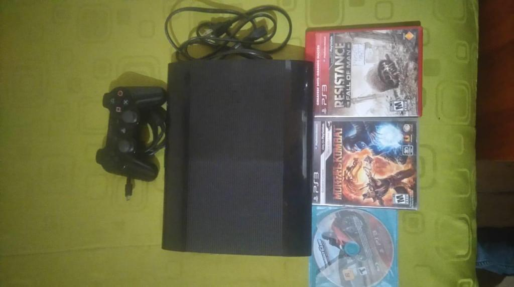 Ps3 Super Slim, Dd: 250Gb.
