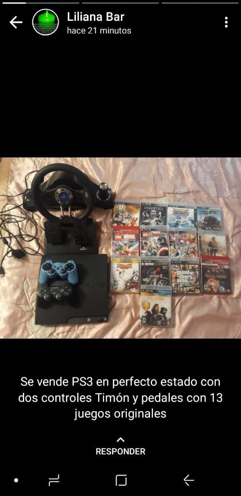 Se Vende Ps3 en Perfecto Estado