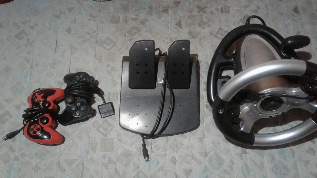 Volante Y 2 Controles Pc Y Ps2