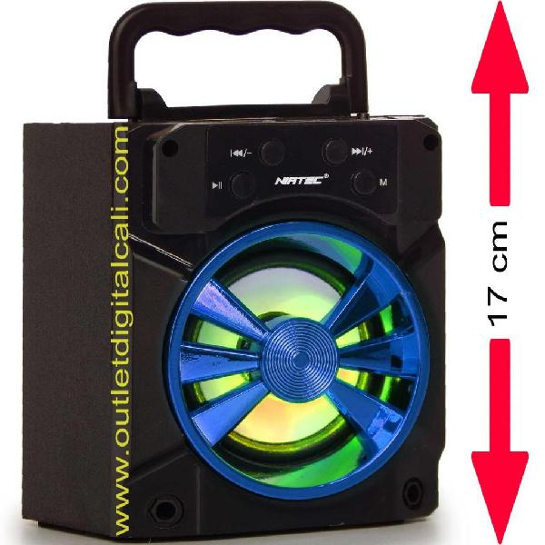 Parlante Recargable Con Bluetooth Luces NIATEC GRATIS