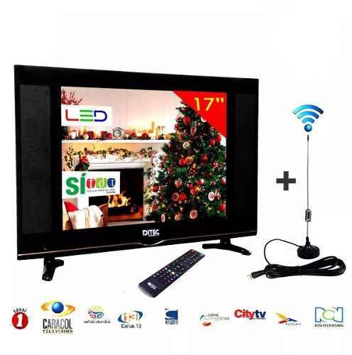 Televisor Led Full Hd 17 Pulgadas Monitor + Antena Tdt + Obs