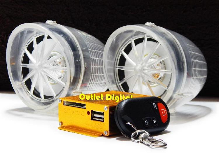 Radio FM para moto con Alarma USB/SD Control GRATIS