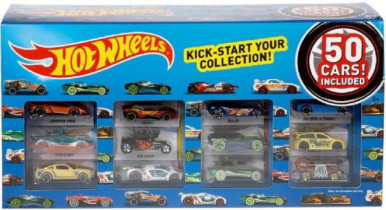 Caja de 50 Carros Hot Wheels