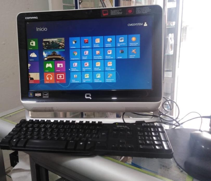 Vendo computador Todo en 1 Compaq Ram 4gb disco duro 500gb
