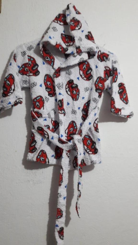 Batas de Baño en toalla estampada para bebés
