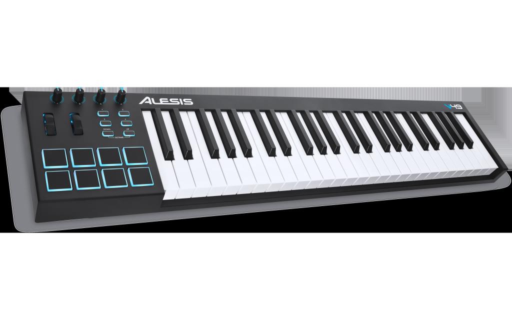 Controlador MIDI Alesis V49 con Ableton Live XPAND! 2