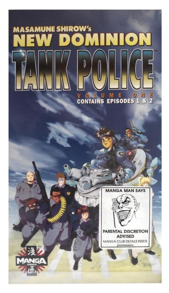VIDEO VHS HiFi MANGA NEW DOMINION TANK POLICE DE MASAMUNE