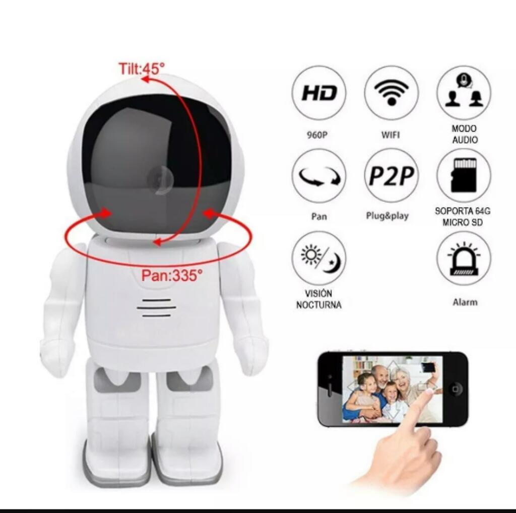 Cámara de Vigilancia Mini Robot Hd Ip Wi
