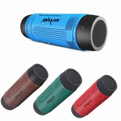 Parlante Bluetooth Con Linterna Bicicleta Luz Led Zealot S1