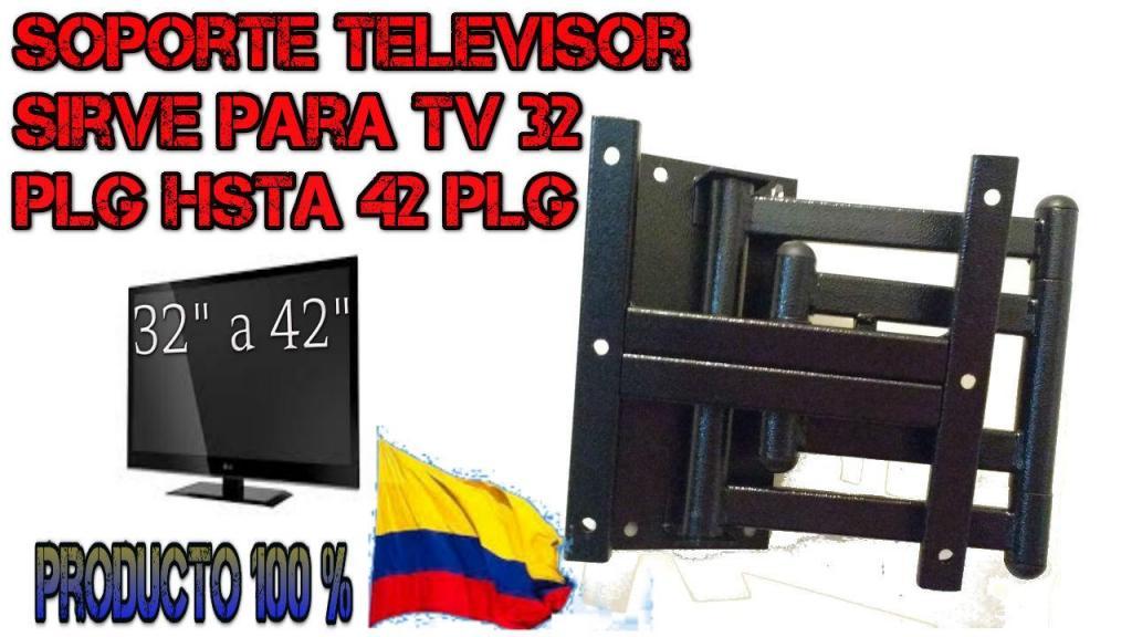 SOPORTE TV TELEVISOR MOVIL TRES GIROS DOS BRAZOS