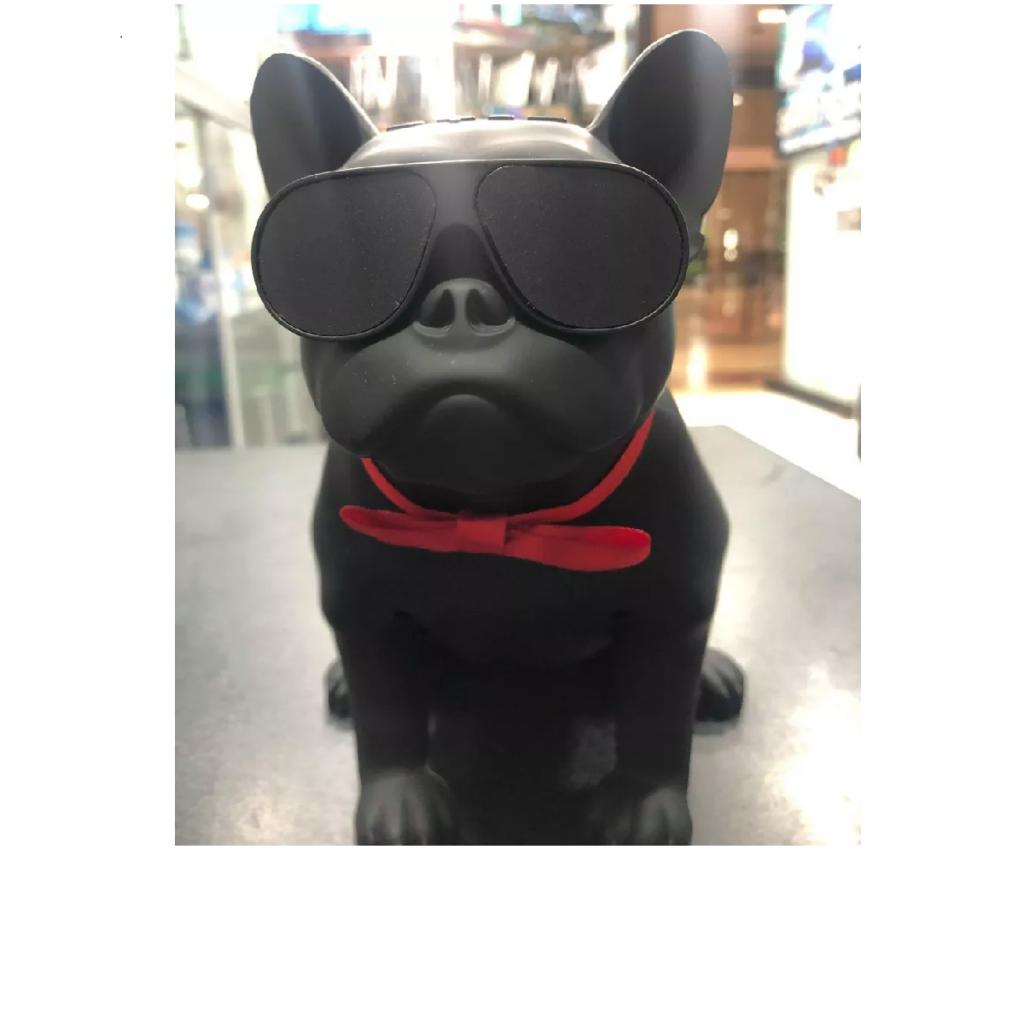 Speaker Bluetooth Perro Bull Dog Batería Recargable